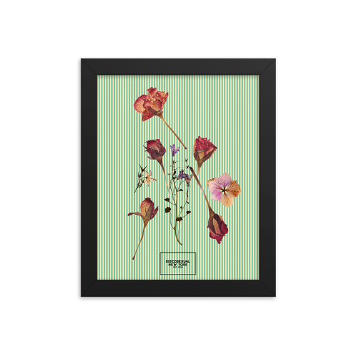 "DISCOSEXUAL ""Pressed Flowers"" Framed Art Print"