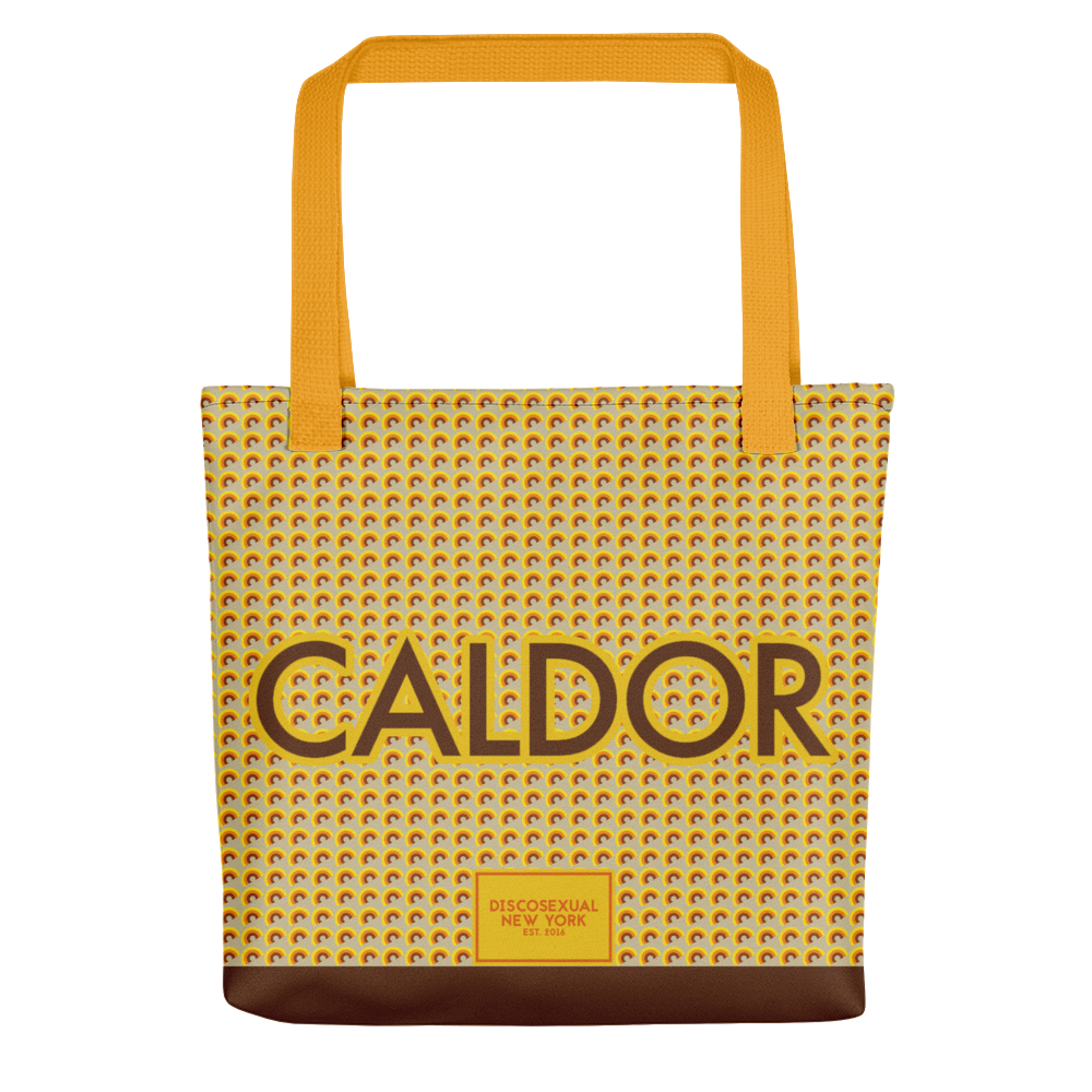 "DISCOSEXUAL ""Caldor"" Patterned Tote"