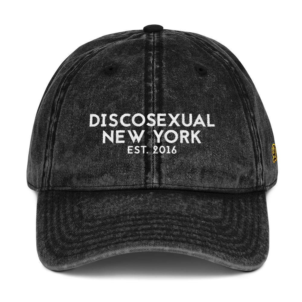 "DISCOSEXUAL ""Logomania"" Distressed Cap"
