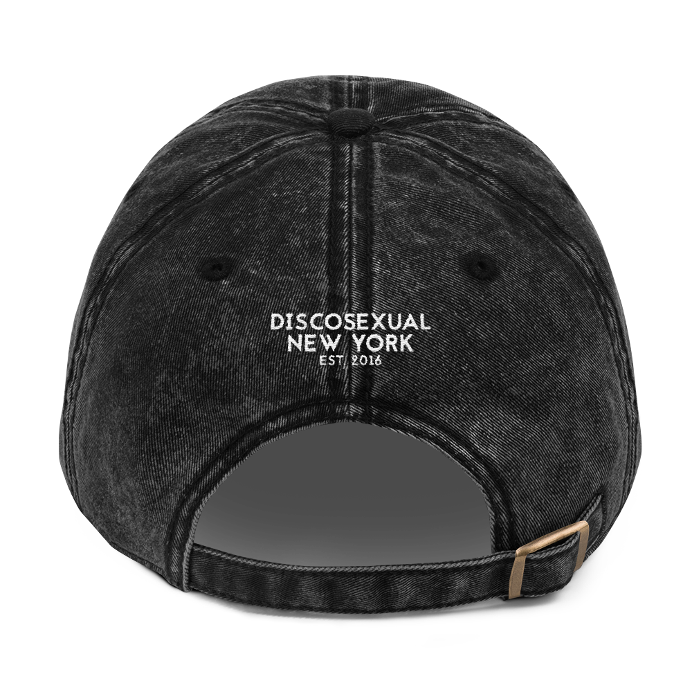 "DISCOSEXUAL ""Drugs"" Distressed Cap"