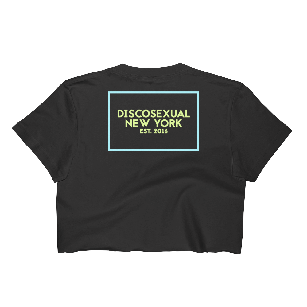 "DISCOSEXUAL ""Japanese Monogram"" Crop Top"