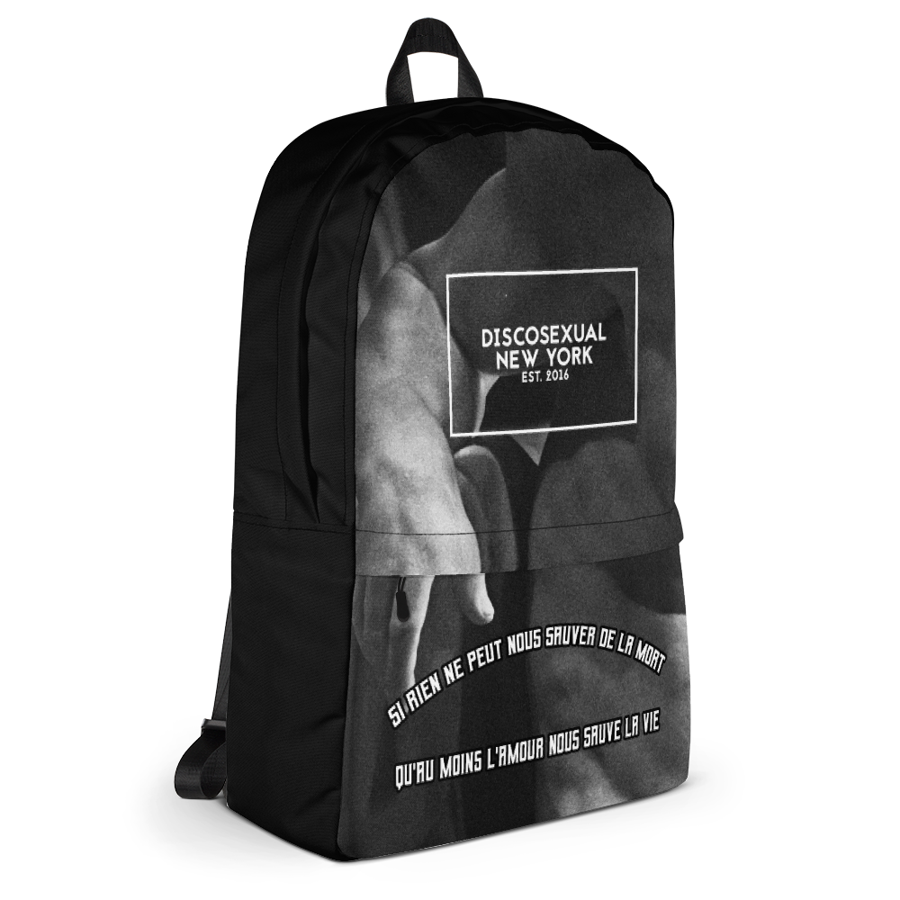 "DISCOSEXUAL ""L'amour Nous Sauve"" Mourant Backpack"