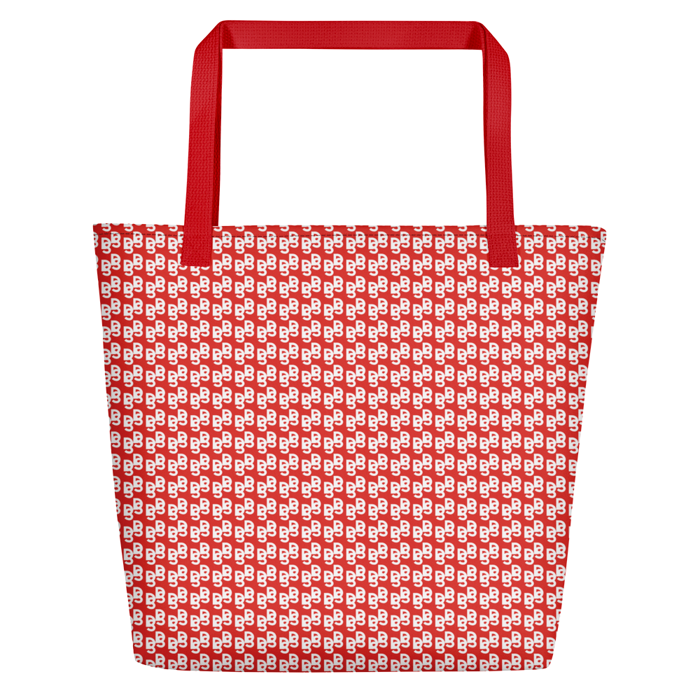 "DISCOSEXUAL ""Red Monogram"" Tote"
