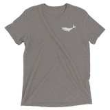 Whale T-Shirt - Distressed Tri-Blend Tee