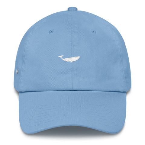 Embroidered Whale and Nantucket Island Cotton Cap