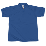 Nantucket Embroidered Polo Shirt with White Embroidery