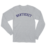 Distressed Nantucket Lettering Unisex Long Sleeve T-Shirt