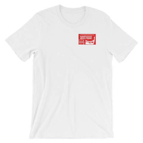1998 Nantucket Beach Permit T-Shirt