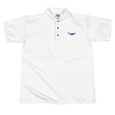 Whale Polo Shirt (Navy Embroidery)