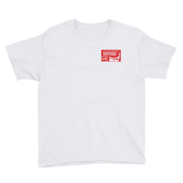 2018 Nantucket Beach Permit Youth Short Sleeve T-Shirt