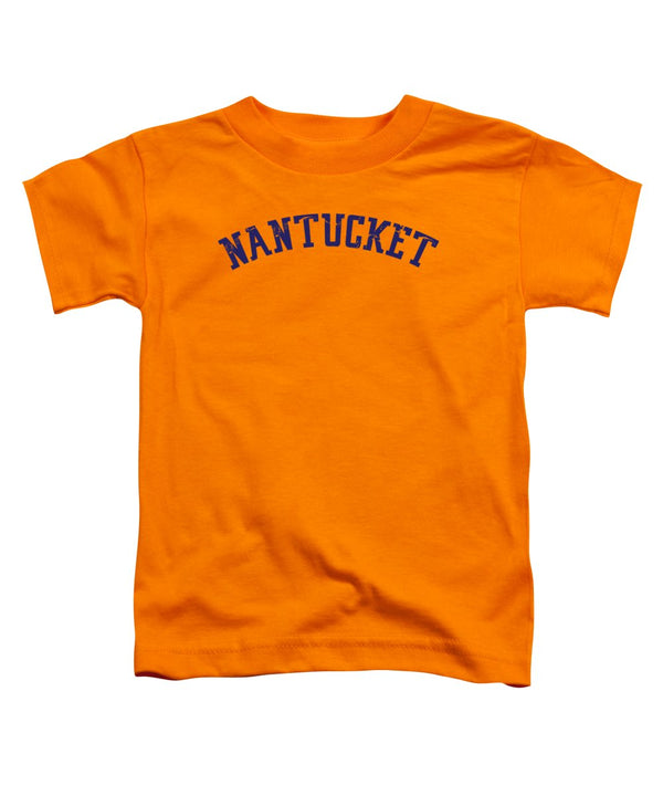 Toddler Nantucket T-Shirt - Distressed Navy Lettering