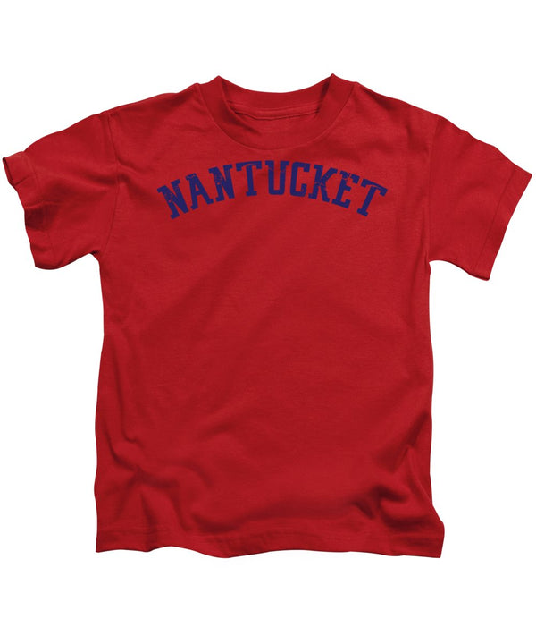 Distressed Nantucket Lettering - Kids T-Shirt