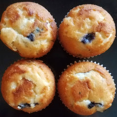 Blueberry muffins surprisingly ended up being a Favorite Muffin of mine!   The reason it's surprising is I do not like blueberries! It took my son loving blueberry pancakes for me to even try blueberry muffins which I ended up perfecting over the years both my blueberry pancakes and my blueberry muffins!    Some tips I've learned over the years is absolutely add the lemon zest it does make a difference I don't suggest on top though.  Frozen blueberries have been something that I've used over the years! I find when I work with my batter, frozen blueberries doesn't make your batter too thin. If your batter is looking a little too thin, for either your blueberry pancakes or your blueberry muffins, then you just add a little bit of flour make sure that you're not making it too thick, by adding a little bit of flour like a teaspoon of flour at a time.  An easy crumble for the top of your blueberry muffin is butter flour and granulated sugar and work it kind of like you do for a banana bread topping, just use granulated sugar instead  You can also use Sugar in the Raw on the top, but I would suggest putting that on after you bake it!  There you go fresh blueberry muffin tips with pictures of my fresh blueberry muffins don't forget to follow for more tips and tricks and of course some great baking gadgets!
