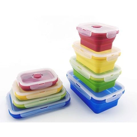 4 Piece Collapsible Container Set - Multicolored - Go Go Kitchen Gadgets