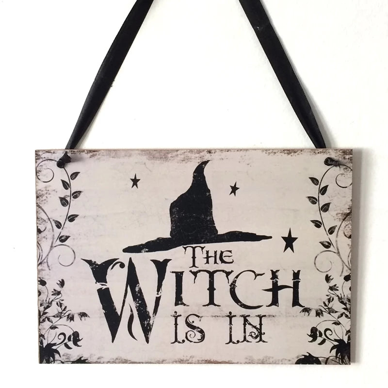 Hanging Decor - The Witch Is In Sign - Go Go Kitchen Gadgets