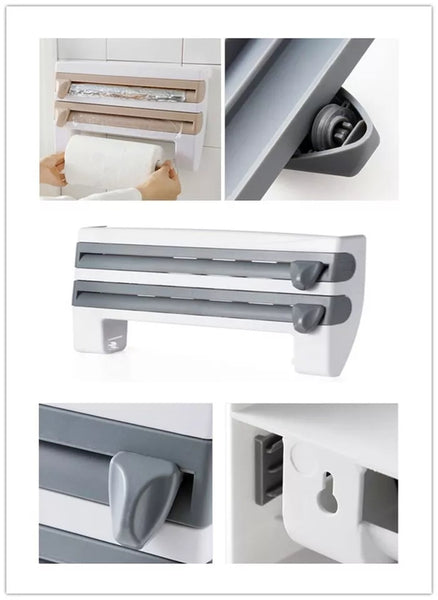 Wall Mounted Kitchen Organizer - Gray - Go Go Kitchen Gadgets