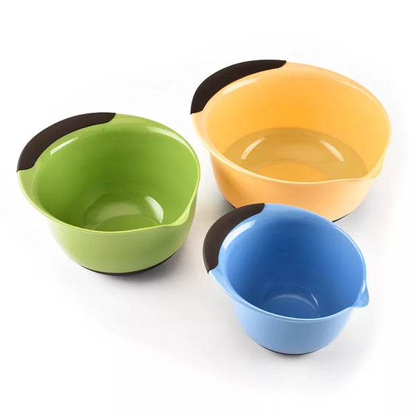 3 Piece Mixing Bowl Set - Go Go Kitchen Gadgets
