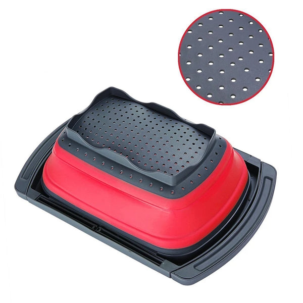 Expandible Collapsible Strainer - Red - Go Go Kitchen Gadgets