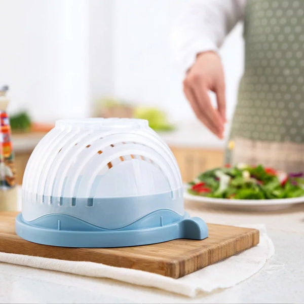 Speedy Salad Chopper - Blue - Go Go Kitchen Gadgets