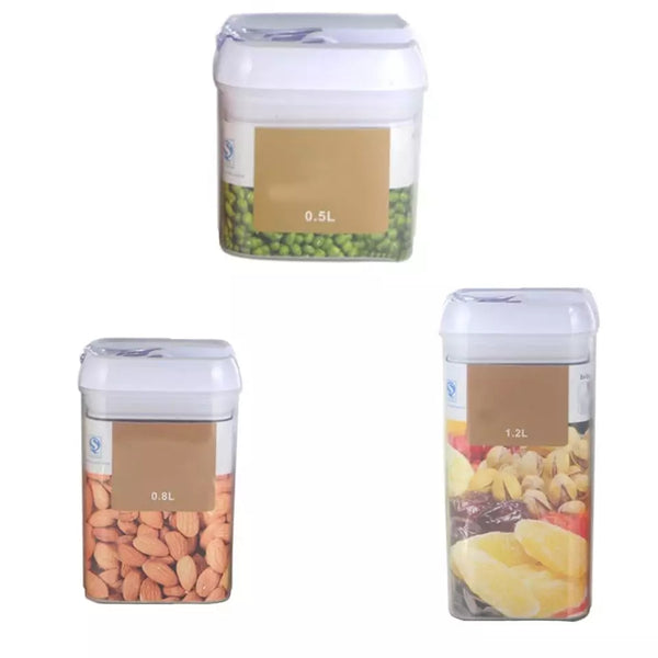 Tight Seal Square Storage Container - 3.25 Cup Capacity - Go Go Kitchen Gadgets