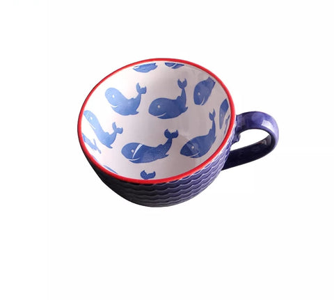 16 oz Whale Coffee Cup - Go Go Kitchen Gadgets