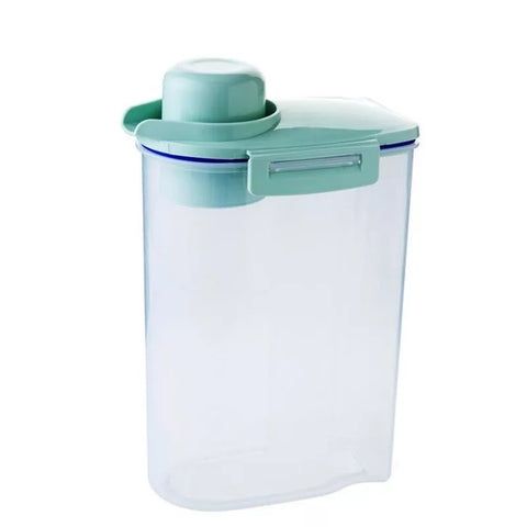 Pour Cap Storage Containers - Green - Great For Cereals Rice and Grains - Go Go Kitchen Gadgets