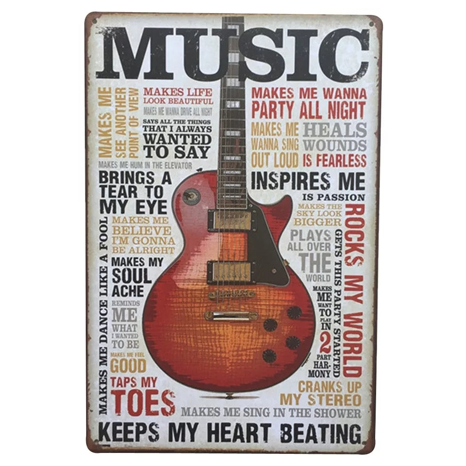 Love of Music Metal Sign - Go Go Kitchen Gadgets