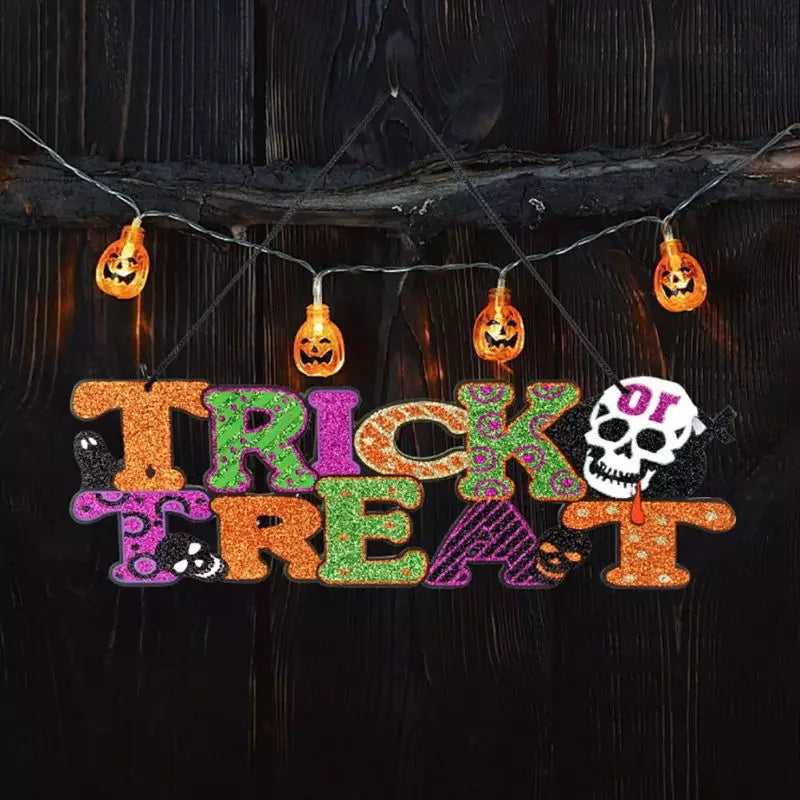 Hanging Trick or Treat Halloween Decor - Go Go Kitchen Gadgets