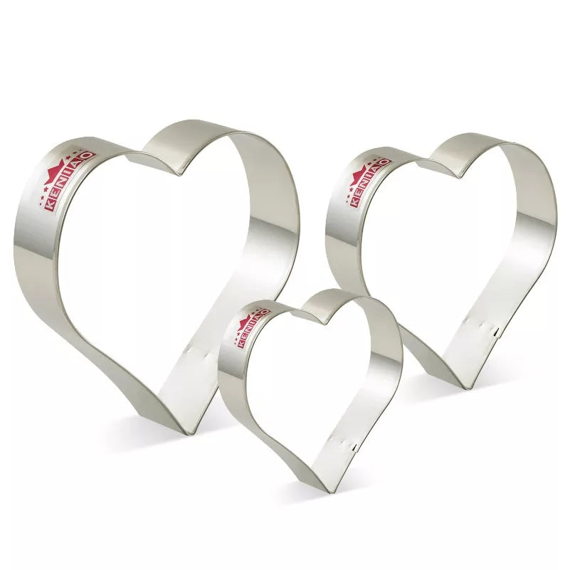 3 Piece Heart Cutter Set - The Extra Love Set - Go Go Kitchen Gadgets
