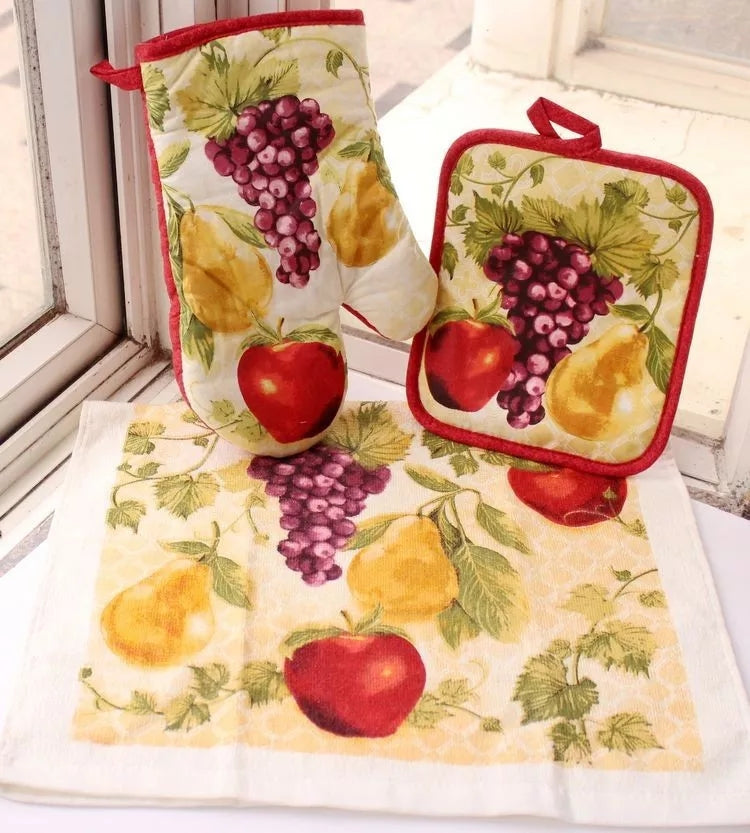 Fruit Kitchen Towel Set - Go Go Kitchen Gadgets