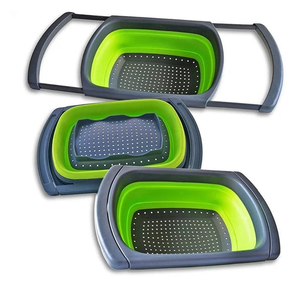 Expandible Collapsible Strainer - Green - Go Go Kitchen Gadgets