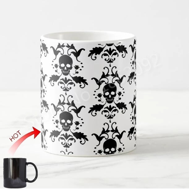 Color Changing Paisley Skull Coffee Cup - Go Go Kitchen Gadgets
