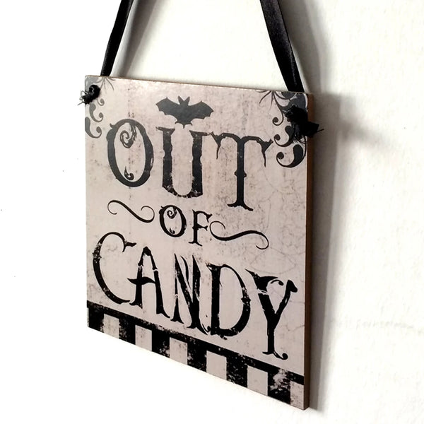Out of Candy Halloween Decor - Go Go Kitchen Gadgets