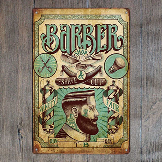 Barber Metal Signs - Go Go Kitchen Gadgets