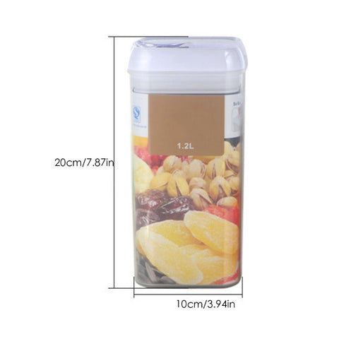 Tight Seal Square Storage Containers - 5 Cup Capacity - Go Go Kitchen Gadgets