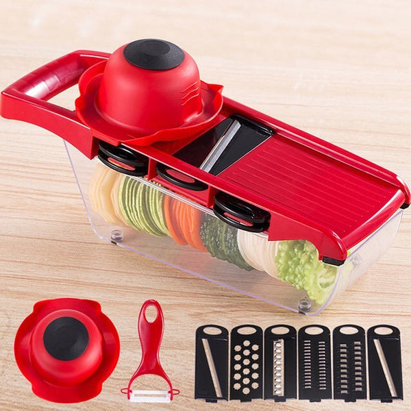 Speedy Mandolin Set - Bonus Peeler - Go Go Kitchen Gadgets