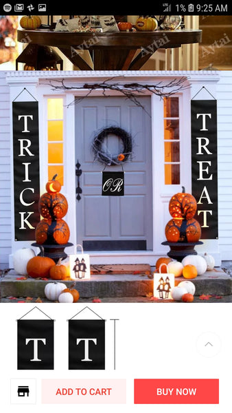Hanging Halloween Banner - Trick or Treat - Go Go Kitchen Gadgets