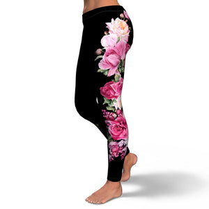 Black Rose Leggings