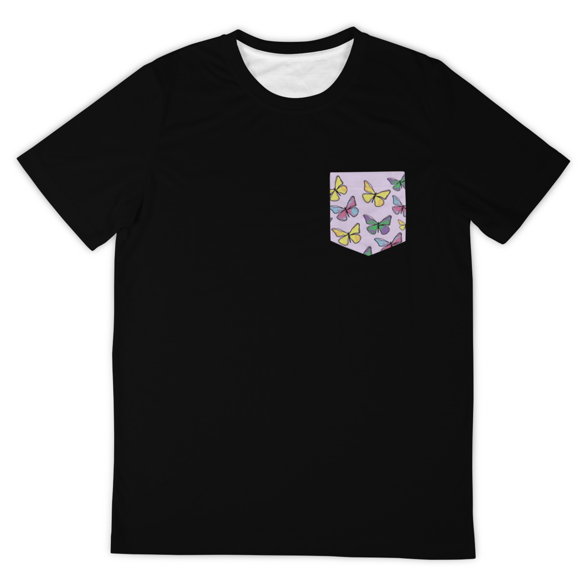 Black Butterfly Pocket Tee