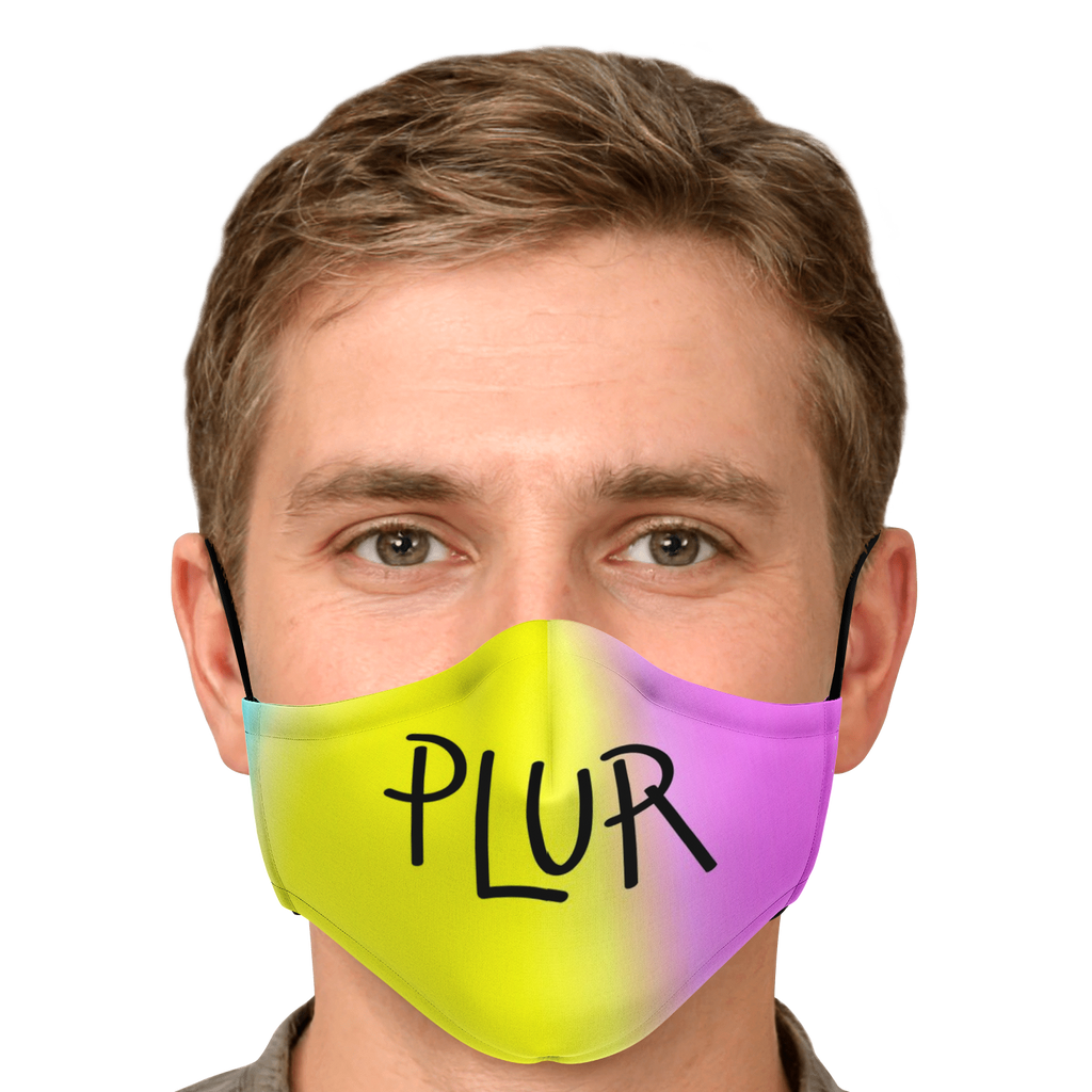 Peace Love Unity Respect (PLUR) Yellow Mask
