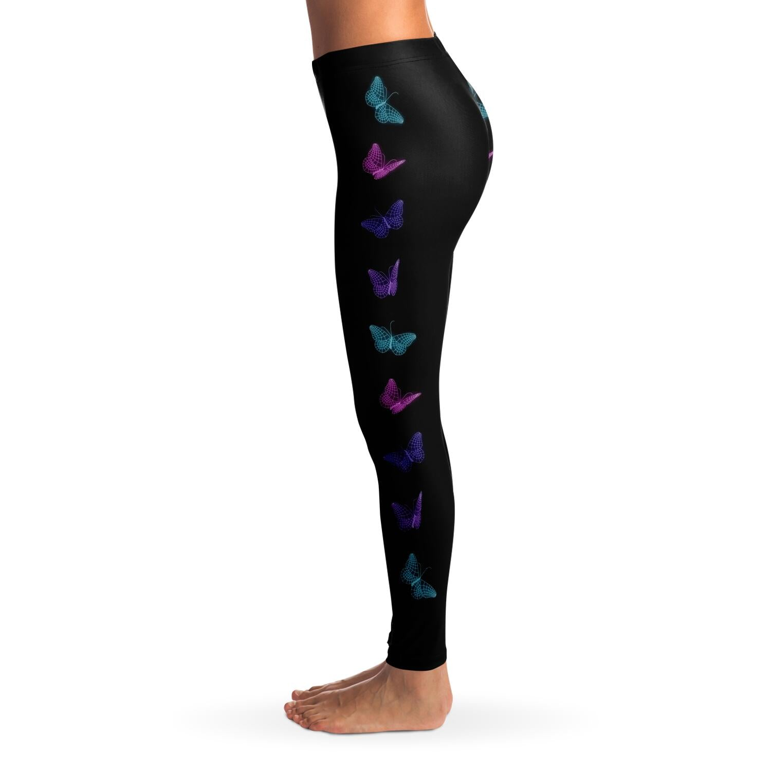 Optical Illusion Butterfly Side Leggings