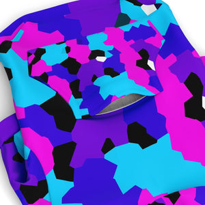 Color Pop Camo Dog Hoodie
