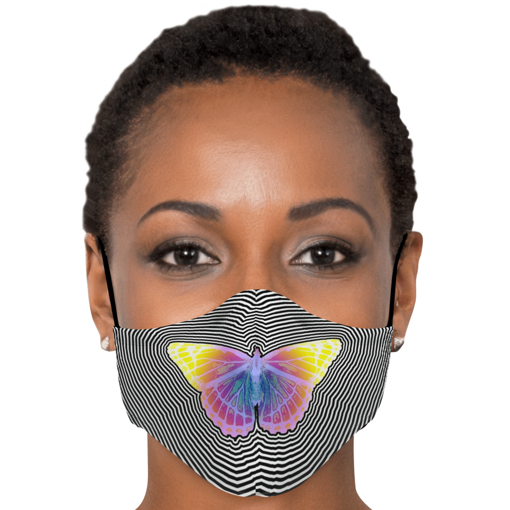 Trippy Butterfly Face Mask