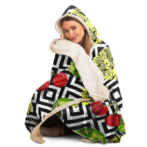Cherry Hooded Blanket