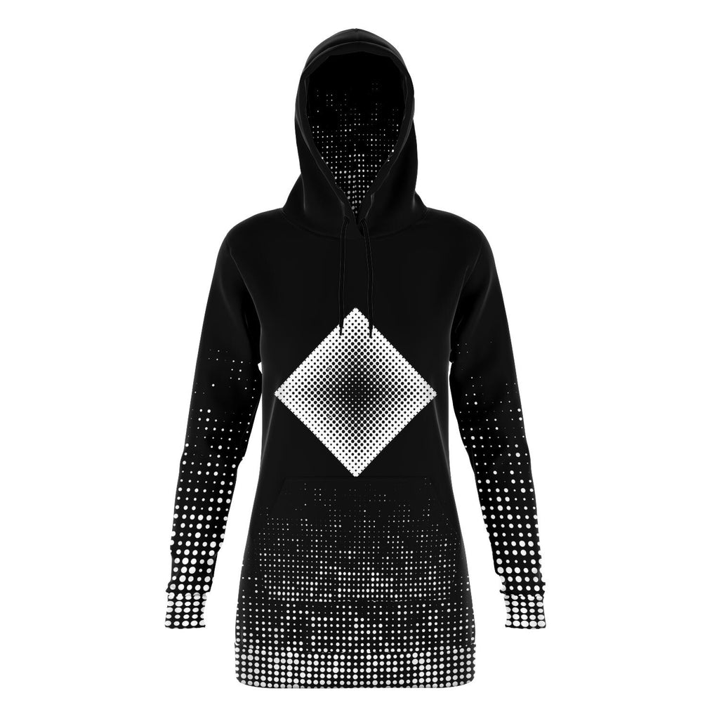 Dot Illusion Long Hoodie