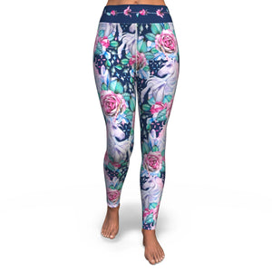 Unicorn & Roses Yoga Pants