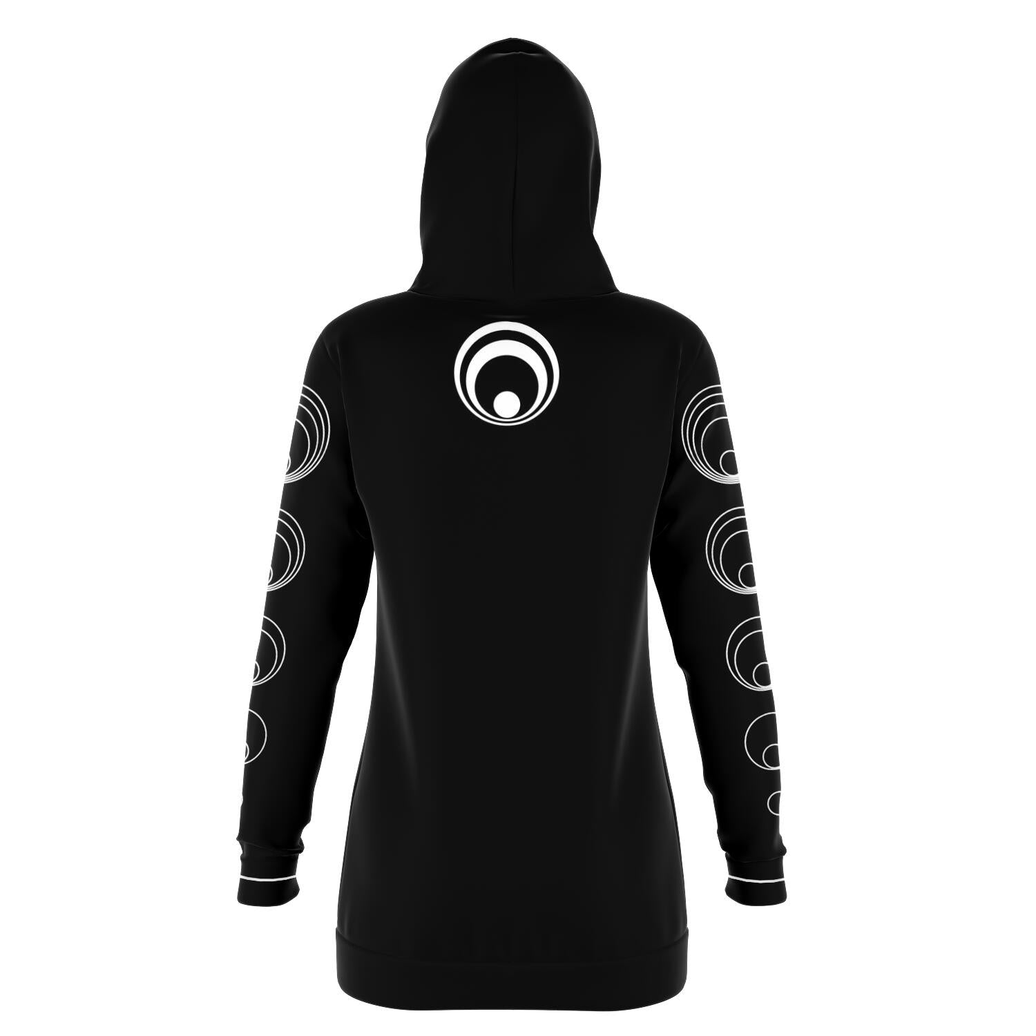 Black & White EDM World Long Hoodie