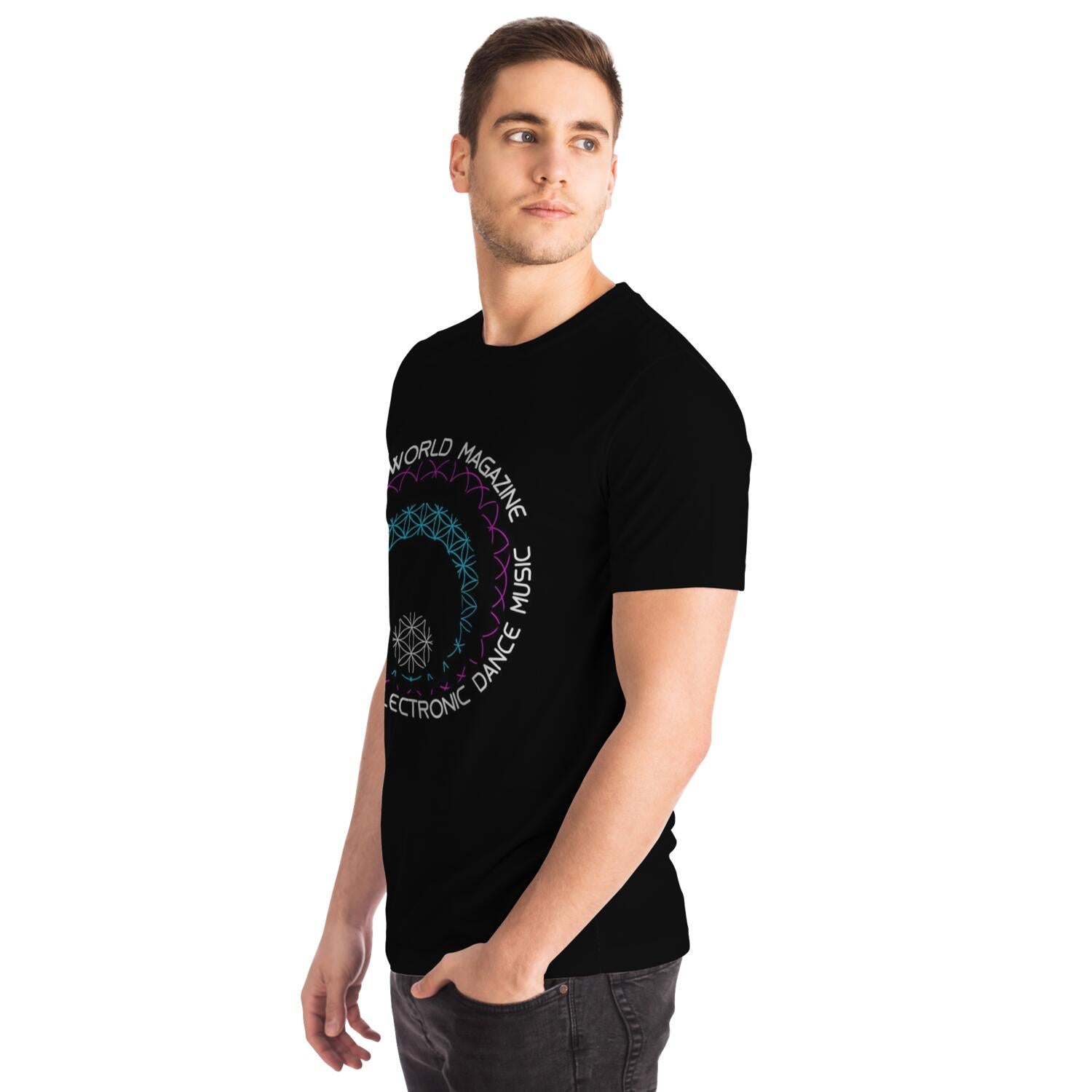 Flower of Life Laser Show Glitch Tee