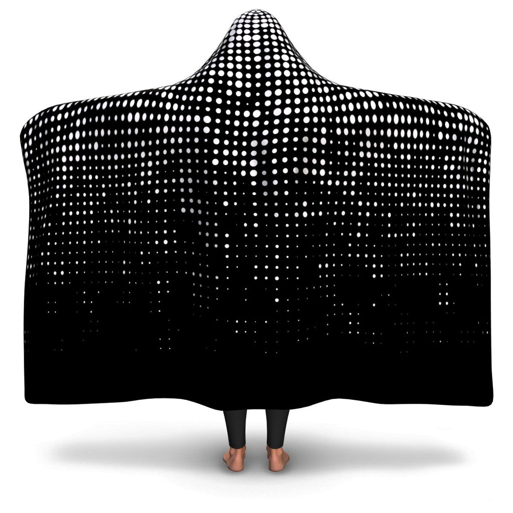 Dot Illusion Hooded Blanket