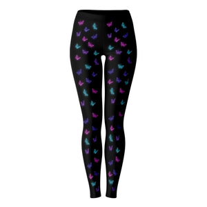 Optical Illusion Mini Butterfly Front Leggings